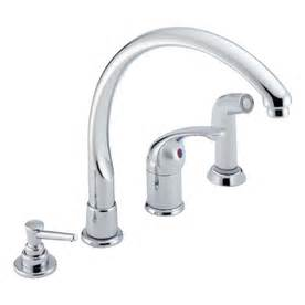 Delta Kitchen Faucet Models by Shop Delta Waterfall Chrome High Arc Kitchen Faucet With