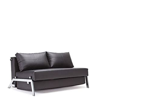 leather lounge sofa bed black or color leather and chrome sofa bed