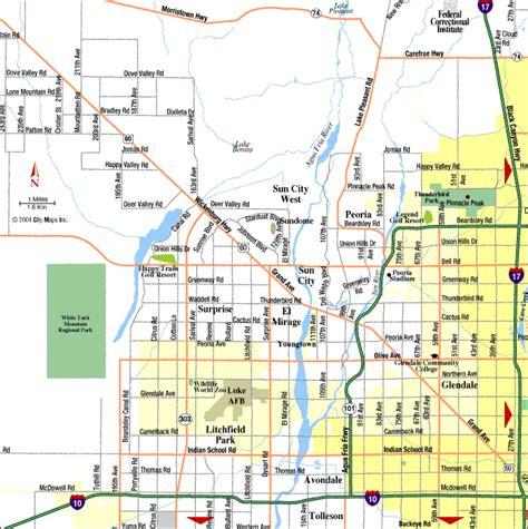 printable phoenix area map phoenix map tourist attractions toursmaps com