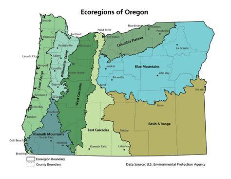 map of oregon regions ecoregions explore