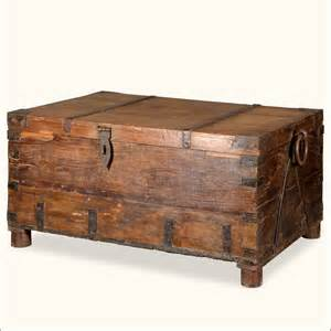 Wooden Chest Coffee Table Antique Style Rustic Reclaimed Wood Coffee Table Storage Chest Blanket Trunk Ebay