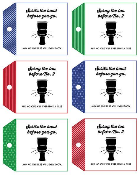 printable gag gift tags poo pourri gift idea and free printable tag