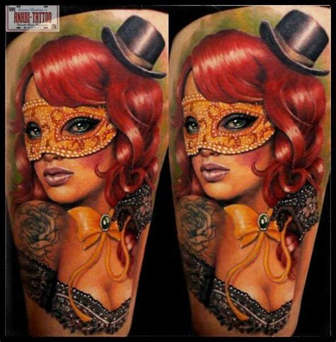 tattoo girl with mask mask tattoos askideas com