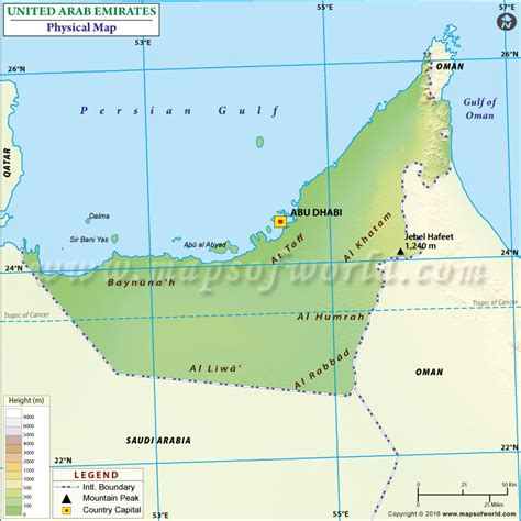 geographical map of uae geographical map of uae travel maps and major tourist