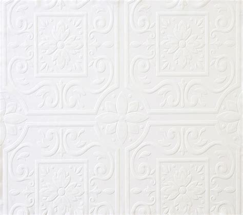 textured ceiling wallpaper faux tin ceiling tile textured paintable wallpaper fd59000 497 59000 ebay