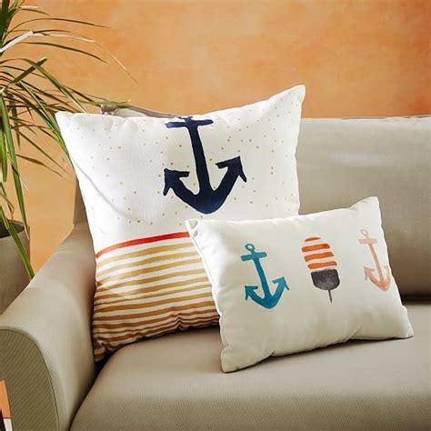 Outdoor Anchor Pillow by Outdoor Anchor Stripe Pillow West Elm