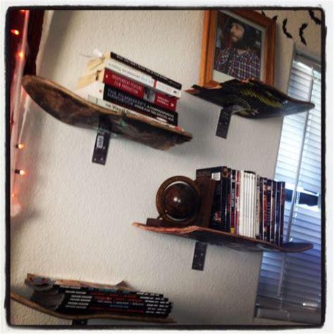 skateboard shelf for the home