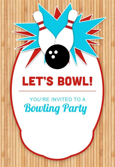 printable birthday cards greetings island bowling party free printable birthday invitation