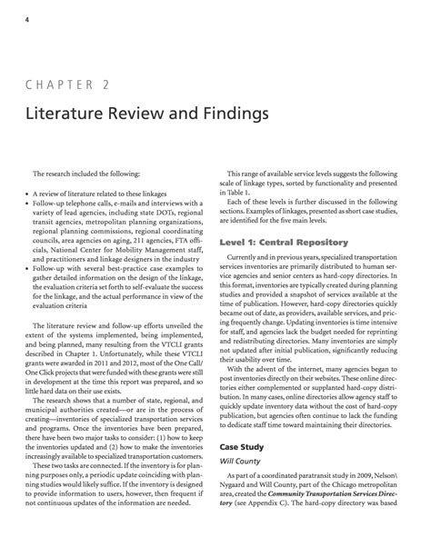 Neurobrucellosis A Report And Review Of Literature by Chapter 2 Literature Review And Findings State Dots Connecting Specialized Transportation