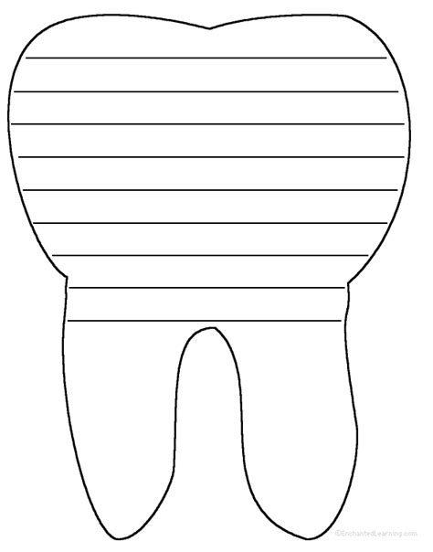Tooth Writing Template by Tooth Writing Sheet Write A Poem Inside The Tooth Or Go