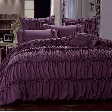 luxton king size duvet quilt cover set plum purple bedding