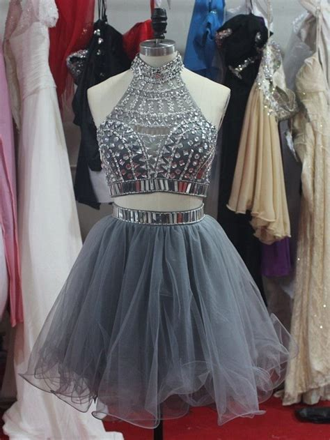 Sweety Lace Dress Blue 18 Lovely 2015 grey halter beading mini prom dresses two