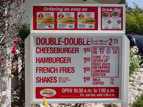 inn n out burger menu my wandering in n out burger in hong kong