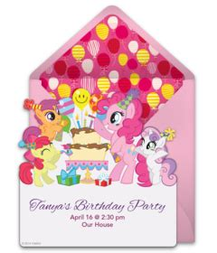 my pony birthday card template my pony birthday invitations gangcraft net