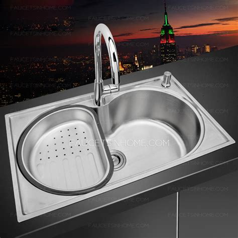 large kitchen sink single bowl large capacity stainless steel kitchen sinks
