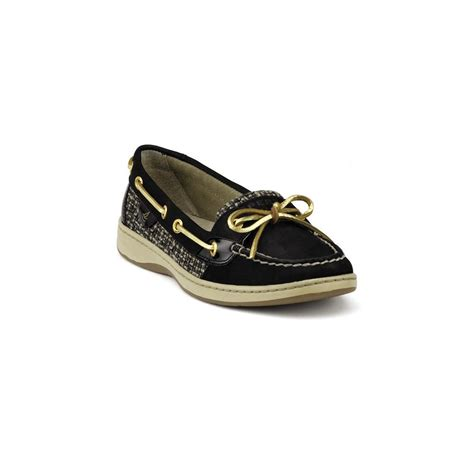 sperry top sider angelfish boat shoes in black black