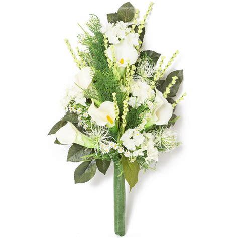 calle fiori prezzi mazzo di calle e fiori di co in plastica con verde