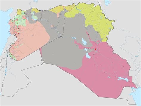syrian civil war map template the liberator today the inevitable fall of iraq
