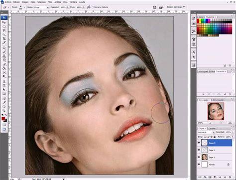 tutorial photoshop cs5 retoque de piel maquillaje y efectos maquillar un rostro con photoshop youtube