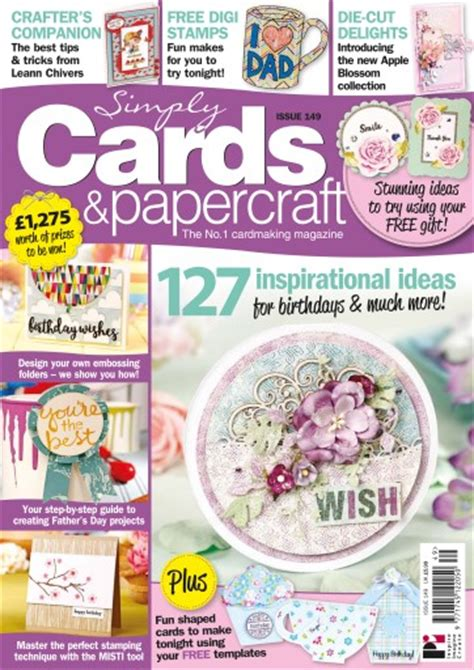 Simply Cards And Papercraft Magazine - simply cards papercraft magazine 149 subscriptions