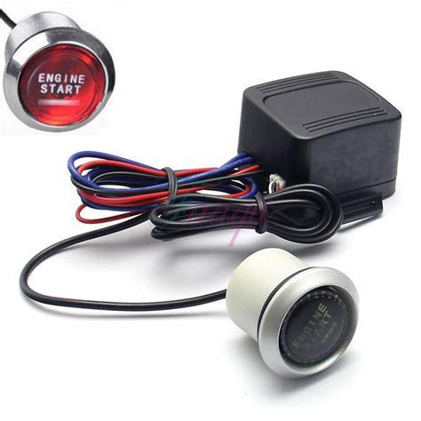 ford push button start kit ignition engine switch ebay universal 12v car engine start led push button switch ignition starter kit ebay
