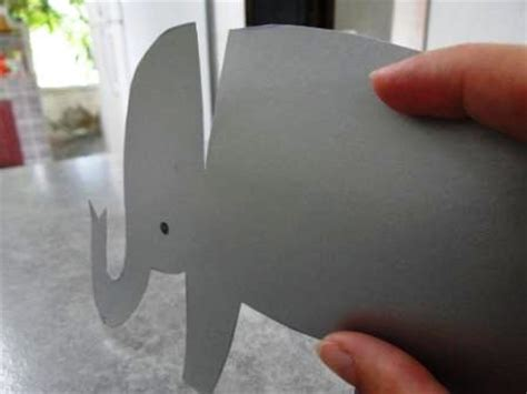 Make Paper Elephant - how to make a paper elephant crafts for