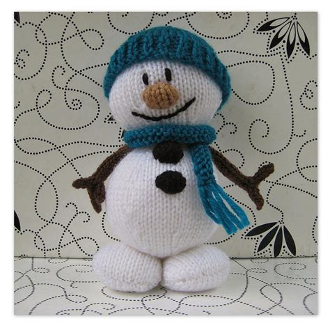 patterns christmas snowman mr snowman toy knitting pattern on luulla