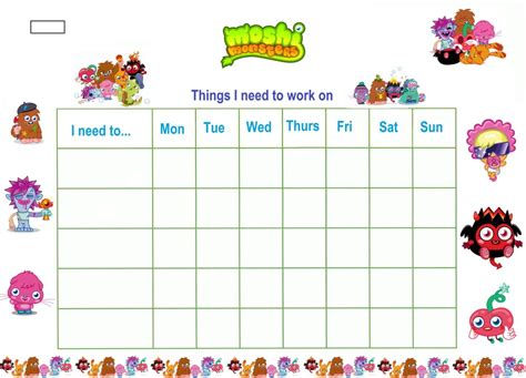 printable daily reward charts printable reward charts for kids kiddo shelter