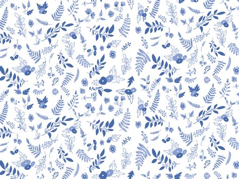 pattern white blue blue white floral botanical pattern desktop wallpaper