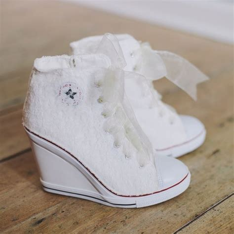 Wedding Shoes Converse by Lace Converse Wedding Wedges My Wedding Ideas