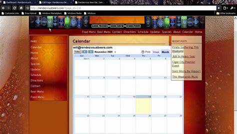 wordpress website tutorial youtube wordpress tutorial how to embed a google calendar into