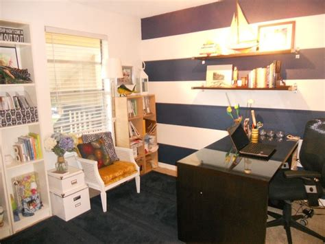 nautical office decor nautical striped office design rooms home office ideas