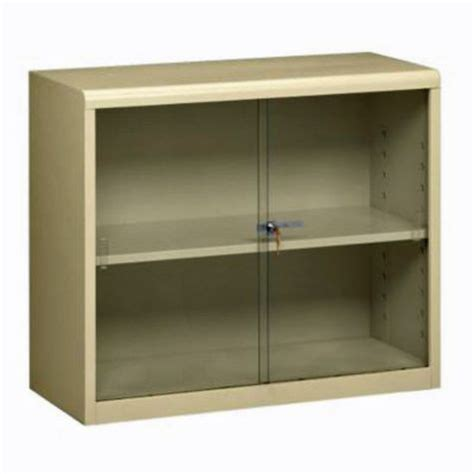metal bookcase with glass doors 30 quot h steel bookcase w glass doors by tennsco officefurniture