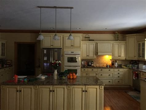 Buttercream Kitchen Cabinets Facing Kitchen With Buttercream Cabinets