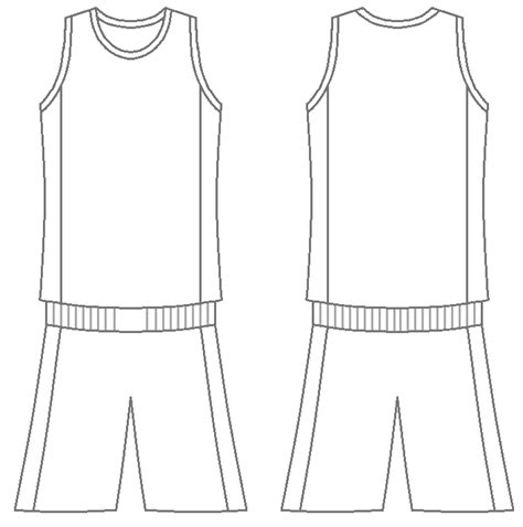 basketball uniform coloring page plain basketball jersey photo front and back clipart best