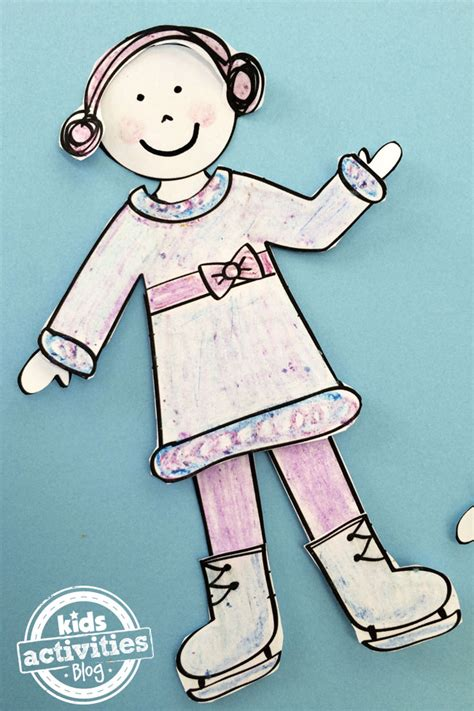 design your doll design your own winter paper doll set kids printable