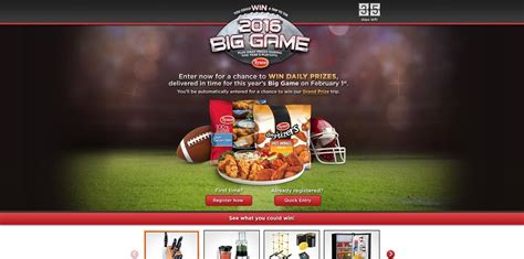 Sweepstake Games - tyson big game sweepstakes tysonbiggamesweepstakes com