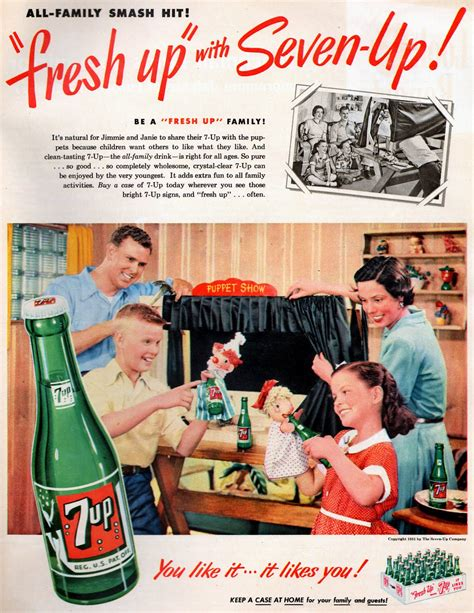 vintage tv commercials from the 1940s 50s 7 ads 7up ads from the 1950s vintage everyday
