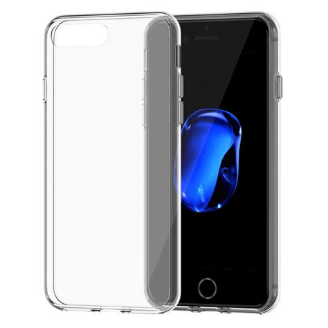 Softcase Tpu Slim Clear Bening Soft Cover Casing Iphone 7 7s Plus iphone 7 clear slim tpu transparent soft cover