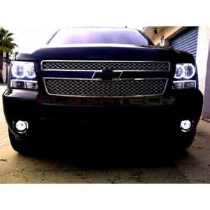 chevrolet tahoe white led halo headlight kit 2007 2013