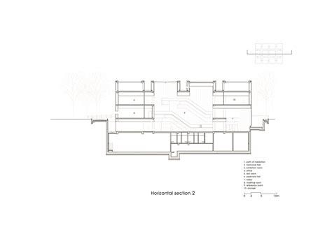 horizontal c section ahn jung geun memorial hall gt architecture designwhos