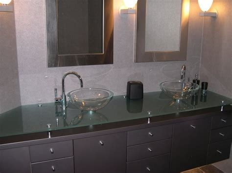 Glass Countertops Bathroom by Houseofmirrors Bathroom