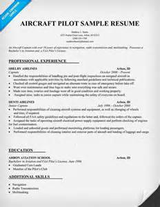 Pilot Resume by Aircraft Pilot Resume Http Resumecompanion Resume Sles Across All Industries