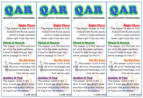 qar template state assessments choice strategies activities