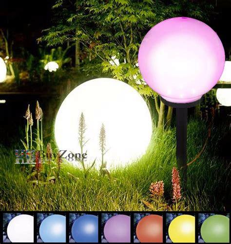 color changing solar lights globe jumbo colour changing led solar garden mood
