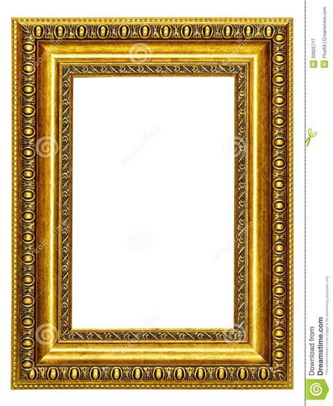 foto de cuadro marco oro modelado para un cuadro imagen de archivo