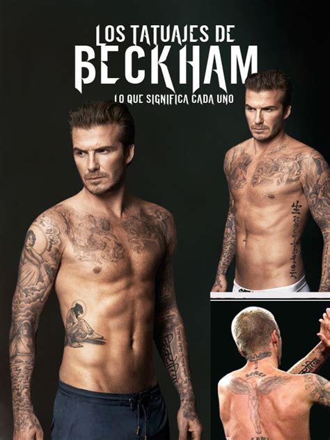 david beckham muestra los tatuajes de su espalda los los tatuajes de beckham thinglink