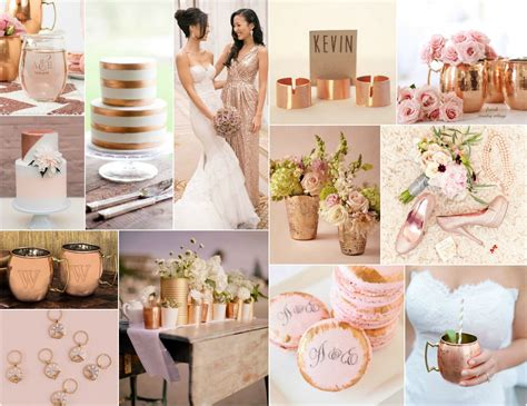Colors That Match Pink by Wow Them All With A Copper Amp Blush Wedding Color Scheme