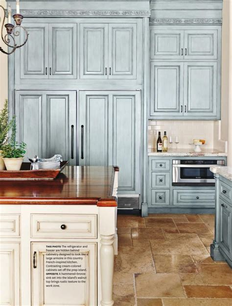 country kitchen in blue color scheme interiors by