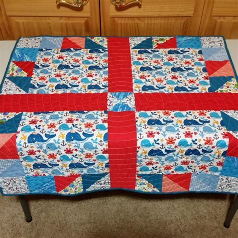 Claw Quilt by You To See Claw Whales Baby Quilt By
